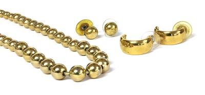 Lot 20 - A pair of Christian Dior gilt metal hoop earrings