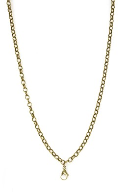 Lot 80 - A gold oval belcher link chain
