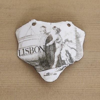 Lot 425 - A rare Battersea enamel wine label