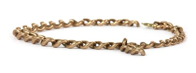 Lot 85 - A length of 9ct gold graduated curb chain