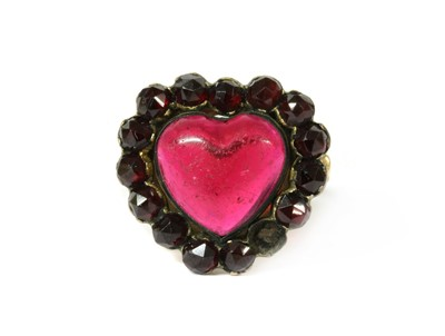Lot 99 - A heart shaped paste cluster