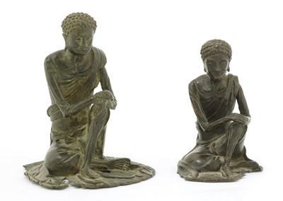 Lot 134 - A Chinese bronze Ascetic Shakyamuni