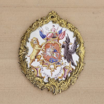 Lot 434 - An Anti-Gallican Society enamel badge