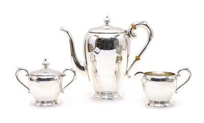 Lot 71 - An American Preisner sterling silver three-piece coffee service