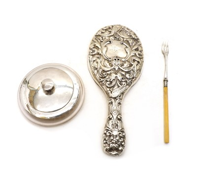 Lot 68 - A Victorian silver dressing mirror