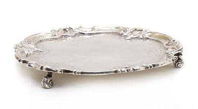Lot 28 - A Victorian silver salver