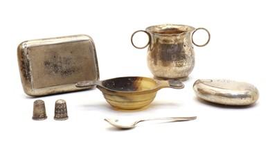 Lot 22 - A Victorian silver pocket tobacco box