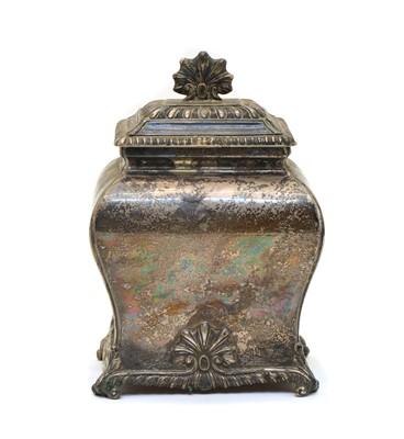Lot 4 - A late Victorian silver tea caddy and cover