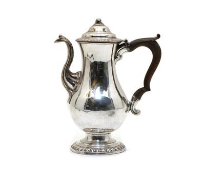 Lot 20 - An old Sheffield plate coffee pot