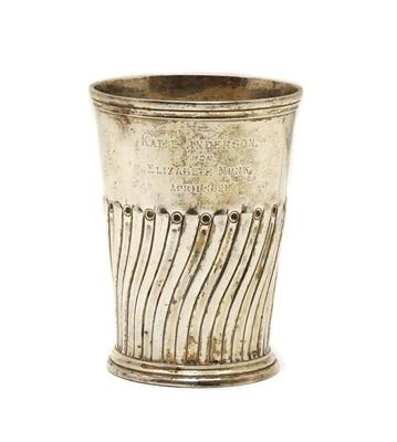 Lot 14 - A Victorian silver beaker