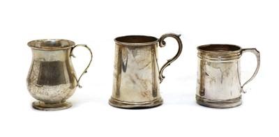 Lot 3 - Three small silver mugs