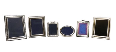 Lot 69A - A collection of silver photograph frames