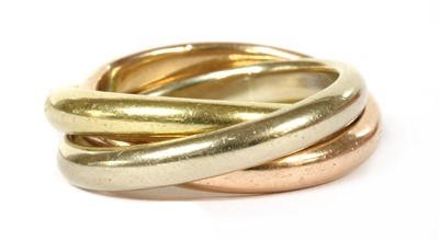 Lot 56 - A gold Russian wedding ring