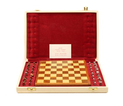 Lot 82 - A 20th Century silver chess set