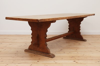 Lot 417 - A large refectory table