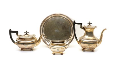 Lot 40 - A Walker & Hall silver plated three piece tea set