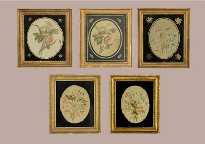 Lot 407 - Seven various silkwork pictures