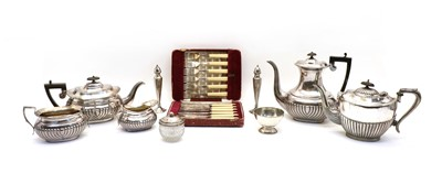 Lot 61A - A collection of silver plate items