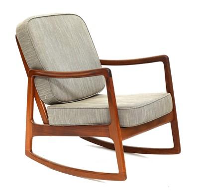 Lot 570 - A Danish teak 'Model 120' rocking lounge chair