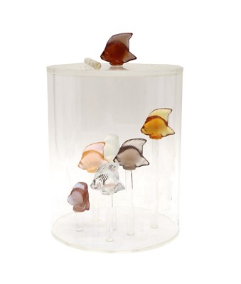 Lot 43 - A collection of Lalique tropical fish