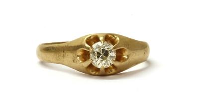 Lot 2 - A gold single stone diamond ring