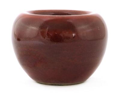 Lot 65 - A Chinese sang-de-boeuf water pot