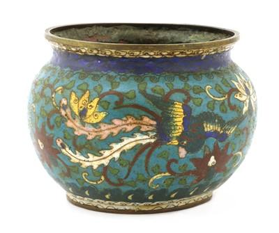 Lot 166 - A Chinese cloisonné jar