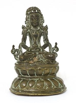 Lot 127 - A Chinese bronze bodhisattva