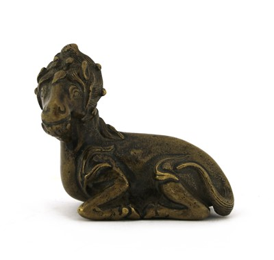 Lot 100 - A Chinese bronze weight