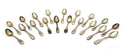 Lot 50 - Six fiddle pattern teaspoons
