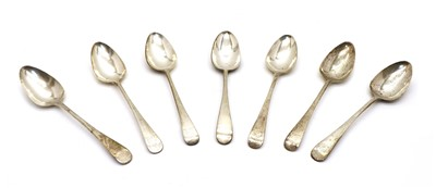 Lot 51 - Seven silver table spoons