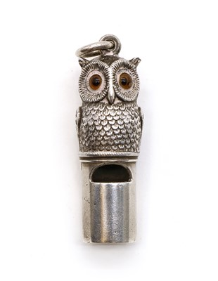 Lot 36 - A Victorian silver whistle