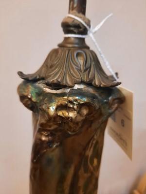 Lot 6 - A Zsolnay Pécs Art Nouveau iridescent vase