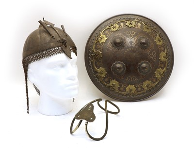 Lot 53 - An Indian 'Dhal' shield