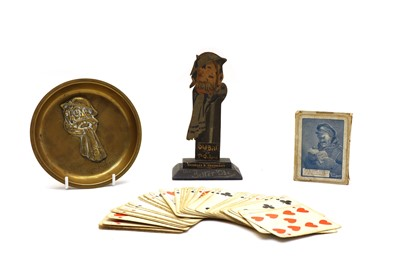 Lot 47 - A painted wood jigsaw cut upstand of ' Old Bill at Oxford'