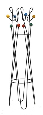 Lot 438 - An 'Atomic' wrought iron coat stand