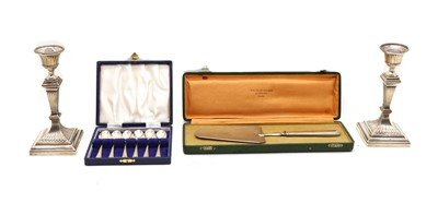 Lot 70 - A collection of silver and plated items