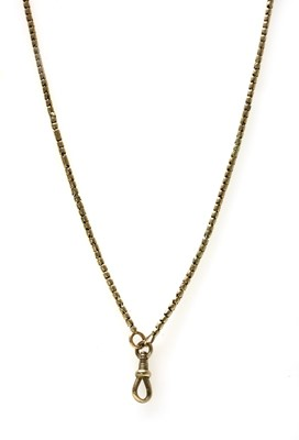 Lot 15 - A gold Brazilian snake link guard chain