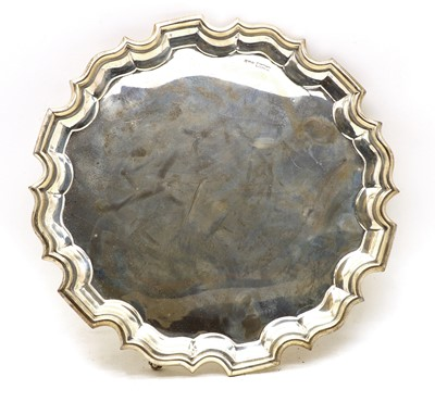 Lot 24 - A silver salver
