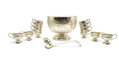 Lot 29 - H. Parkin & Co silver plated punch bowl