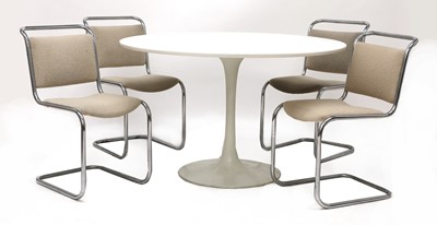 Lot 594 - A set of four Pell cantilever chairs