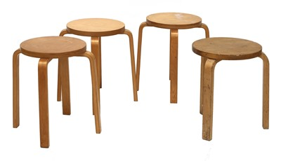 Lot 593 - Four 'Model 60' stacking stools