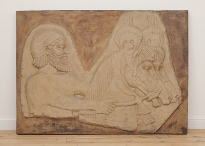 Lot 504 - A large resin Assyrian panel