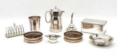 Lot 73 - A collection of silver plated items