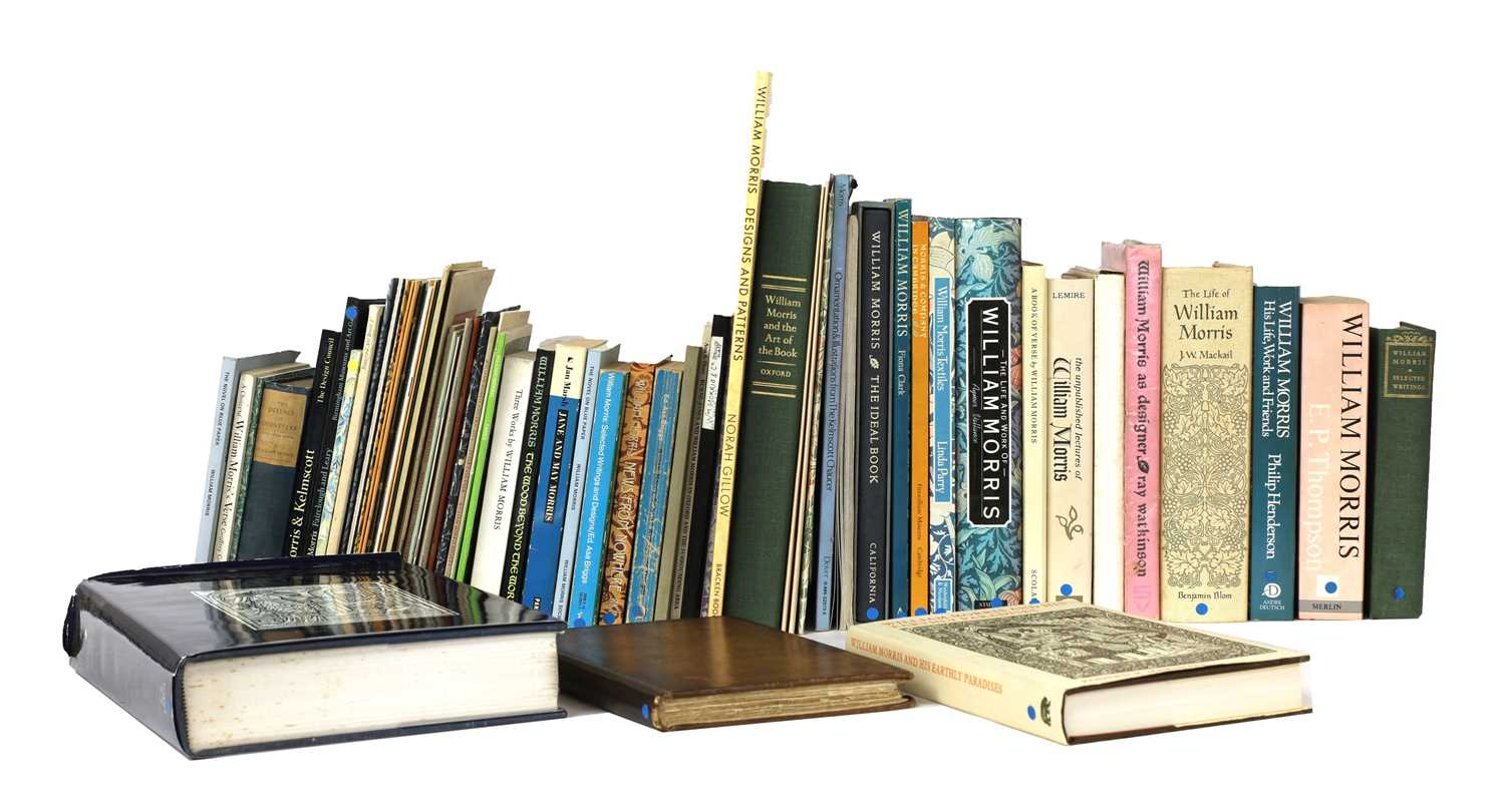 Lot 63 - A large collection of approximately seventy books and publications on William Morris