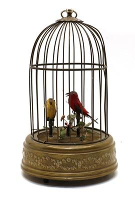 Lot 68 - A singing birdcage automaton