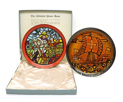 Lot 53 - A Poole 'Medieval Calendar Series' charger 'March'