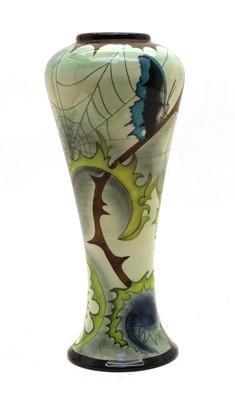 Lot 97 - A Cobridge 'Cobweb' trial vase