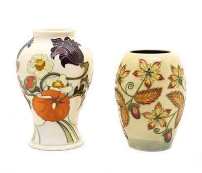 Lot 107 - Three modern Moorcroft vases