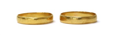 Lot 96 - Two 22ct gold wedding rings